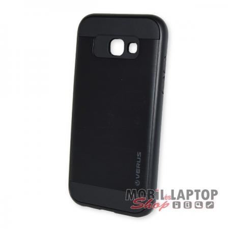 Kemény hátlap Samsung A520 Galaxy A5 (2017) ütésálló műanyag + gumi fekete
