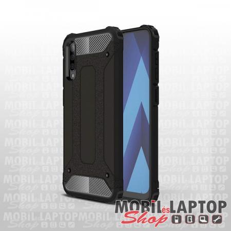 Kemény hátlap Samsung A705 / A707 Galaxy A70 / A70s ütésálló műanyag + gumi fekete