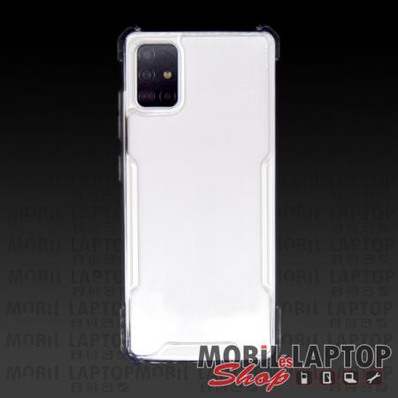 Kemény hátlap Samsung A715 Galaxy A71 ütésálló műanyag + gumi átlátszó