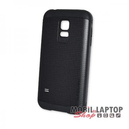 Kemény hátlap Samsung G800 Galaxy S5 Mini Spigen ütésálló fém + gumi