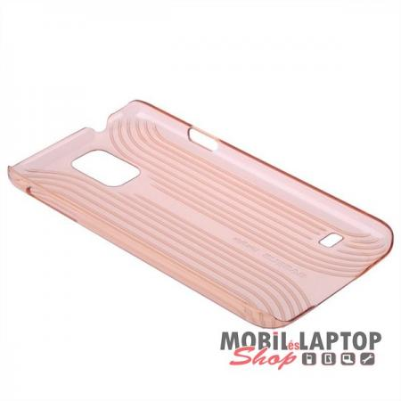 Kemény hátlap Samsung G900 / I9600 Galaxy S5 arany BASEUS Line sky
