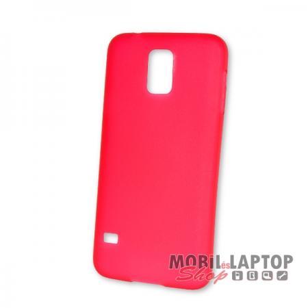 Kemény hátlap Samsung G900 / I9600 Galaxy S5 vékony piros