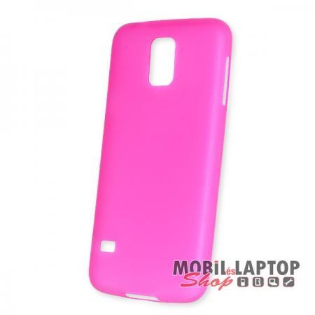 Kemény hátlap Samsung G900 / I9600 Galaxy S5 vékony rózsaszín
