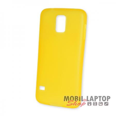 Kemény hátlap Samsung G900 / I9600 Galaxy S5 vékony sárga