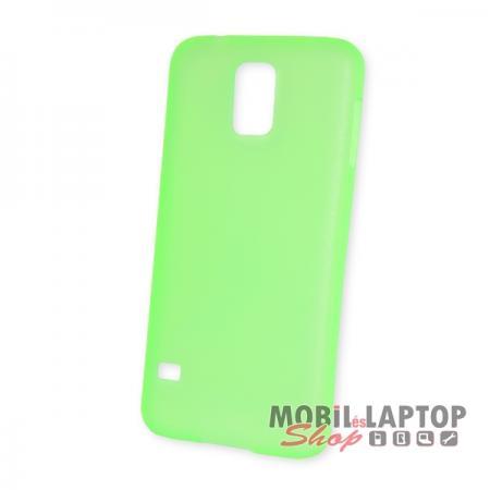 Kemény hátlap Samsung G900 / I9600 Galaxy S5 vékony zöld