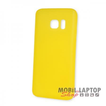 Kemény hátlap Samsung G930 Galaxy S7 vékony citromsárga