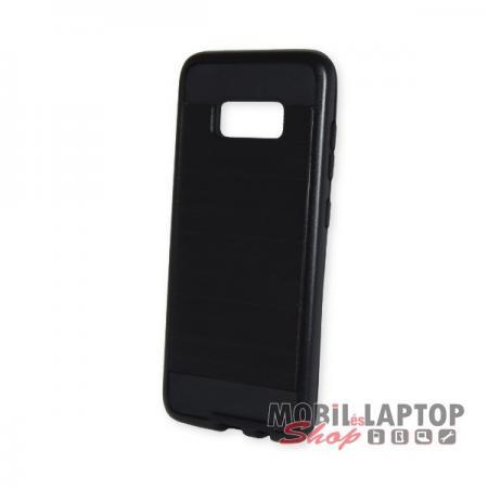 Kemény hátlap Samsung G950 Galaxy S8 ütésálló műanyag + gumi fekete