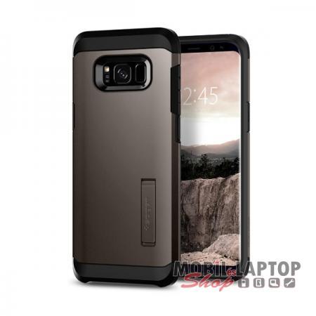 Kemény hátlap Samsung G955 Galaxy S8 Plus Gunmetal Spigen SGP Tough Armor ütésálló