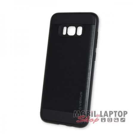 Kemény hátlap Samsung G955 Galaxy S8 Plus ütésálló műanyag + gumi fekete