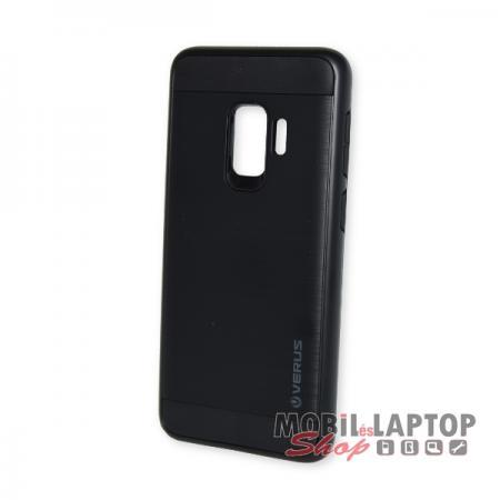 """Kemény hátlap Samsung G960 Galaxy S9 ( 5,8"""" ) ütésálló műanyag + gumi fekete"""
