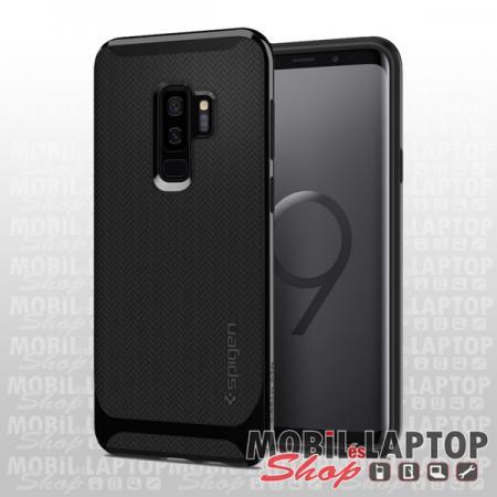 Kemény hátlap Samsung G960 Galaxy S9 fényes fekete Spigen SGP Neo Hybrid ütésálló