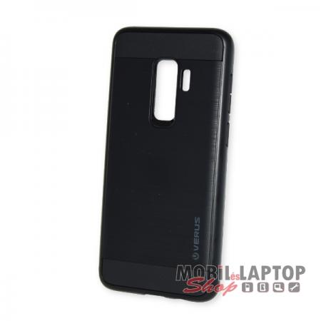 """Kemény hátlap Samsung G965 Galaxy S9 Plus ( 6,2"""" ) ütésálló műanyag + gumi fekete"""