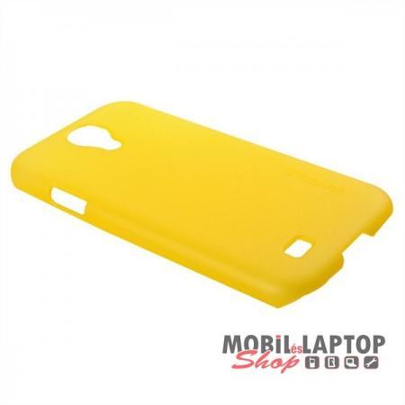 Kemény hátlap Samsung I9500 / I9505 / I9515 Galaxy S4 sárga BASEUS ( plusz fólia és érintő )