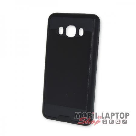 Kemény hátlap Samsung J510 Galaxy J5 (2016) ütésálló műanyag + gumi fekete