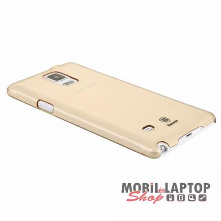 Kemény hátlap Samsung N910 Galaxy Note 4 arany BASEUS Sky