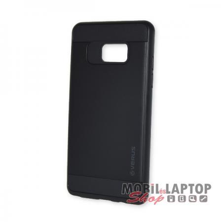 Kemény hátlap Samsung N930 Galaxy Note 7 ütésálló műanyag + gumi fekete