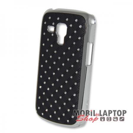 Kemény hátlap Samsung S7560 / S7562 / S7580 / S7582 Galaxy Trend / S Duos fekete strasszköves