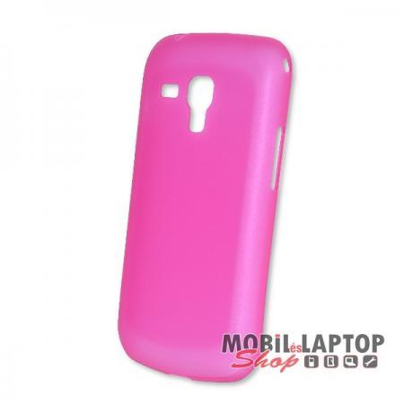 Kemény hátlap Samsung S7560 / S7562 / S7580 / S7582 Galaxy Trend / S Duos vékony rózsaszín