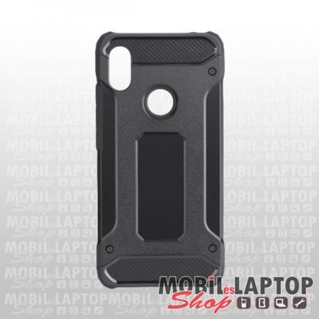 Kemény hátlap Xiaomi Redmi Note 7 ütésálló műanyag + gumi fekete