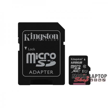Kingston 128GB SD micro Canvas Select 80R (SDXC Class 10 UHS-I) (SDCS/128GB) memória kártya adapterr