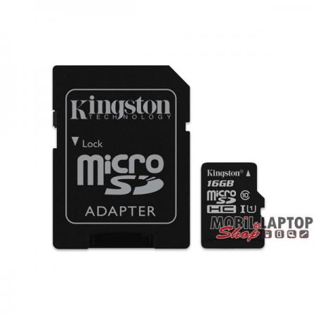Kingston 16GB SD micro Canvas Select 80R (SDHC Class 10 UHS-I) (SDCS/16GB) memória kártya adapterre