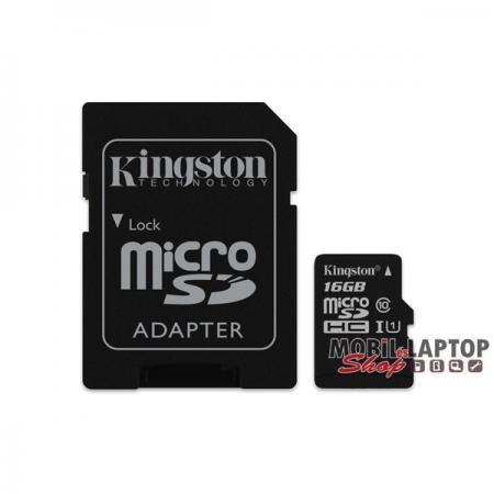 Kingston 16GB SD micro Canvas Select 80R (SDHC Class 10 UHS-I) (SDCS/16GB) memória kártya adapterre