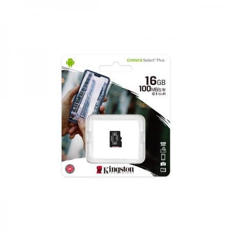 Kingston 16GB SD micro Canvas Select Plus (SDHC Class 10 A1) (SDCS2/16GBSP) memória kártya