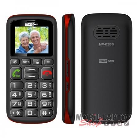 Maxcom MM428BB dual sim fekete időstelefon FÜGGETLEN