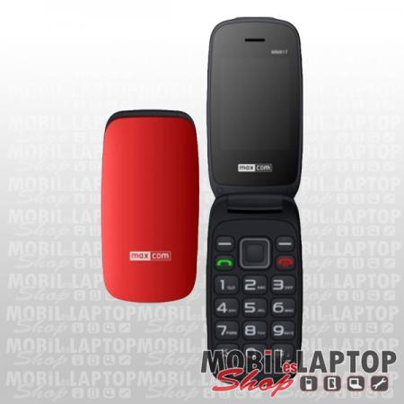 Maxcom MM817BB fekete-piros időstelefon FÜGGETLEN