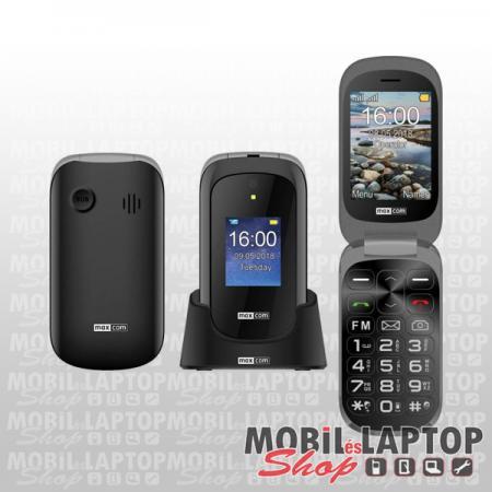 Maxcom MM825 dual sim fekete időstelefon FÜGGETLEN