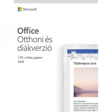 Microsoft Office 2019 Otthoni és diákverzió Elektronikus licenc szoftver