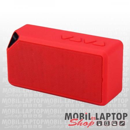 Navon X3 Bluetooth hagszóró 3W (Micro SD, AUX, USB, FM Rádió) piros