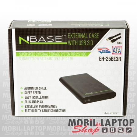 """NBASE külső winchester ház USB 3.0 2,5"""" EH-25BE3R"""