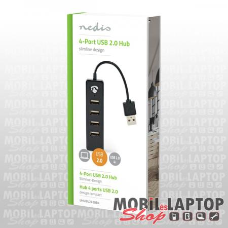 NEDIS USB2.0 4 port HUB fekete UHUBU2420BK