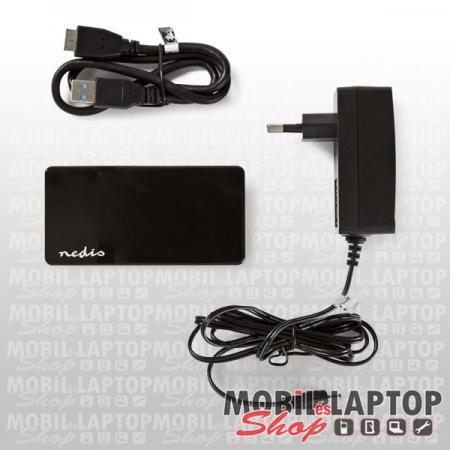 NEDIS USB3.0 4 port AKTÍV HUB fekete UHUBU3410BK