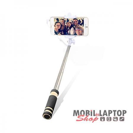 Selfie Bluetooth vagy jack 3,5mm teleszkópos bot fekete