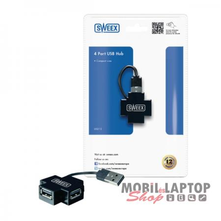 Sweex USB 2.0 4 port HUB fekete US012