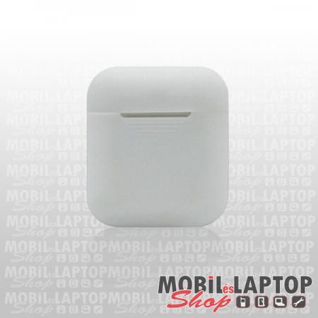 Szilikon tok Apple AirPods fehér