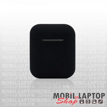 Szilikon tok Apple AirPods fekete