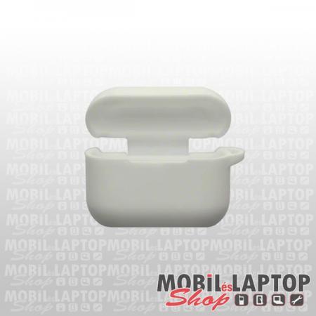 Szilikon tok Apple AirPods Pro fehér
