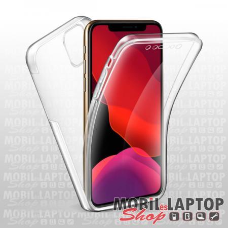 """Szilikon tok Apple iPhone 11 ( 6,1"""" ) 2in1 ultravékony átlátszó (elő + hátoldal)"""