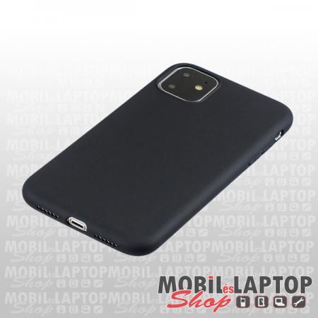 """Szilikon tok Apple iPhone 11 ( 6,1"""" ) ultravékony matt fekete"""