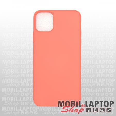 "Szilikon tok Apple iPhone 11 Pro Max ( 6,5"" ) ultravékony matt korall"