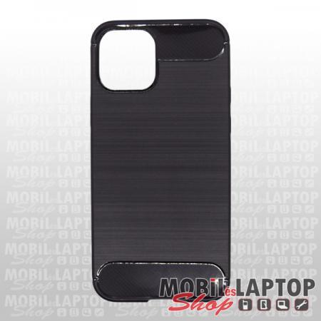 "Szilikon tok Apple iPhone 12 / 12 Pro ( 6,1"" ) fekete karbon minta"