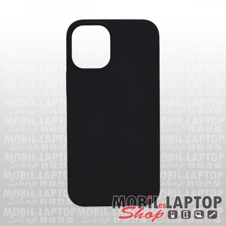 "Szilikon tok Apple iPhone 12 Mini ( 5,4"" ) Soft Touch fekete"