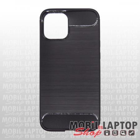 "Szilikon tok Apple iPhone 12 Pro Max ( 6,7"" ) fekete karbon minta"