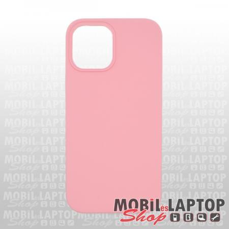 """Szilikon tok Apple iPhone 12 Pro Max ( 6,7"""" ) Soft Touch rózsaszín"""