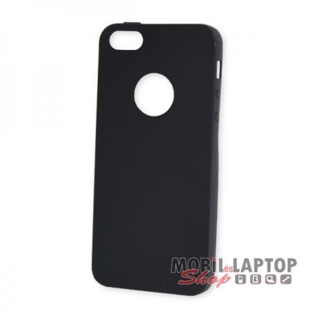 Szilikon tok Apple iPhone 5 / 5S / SE ultravékony matt fekete