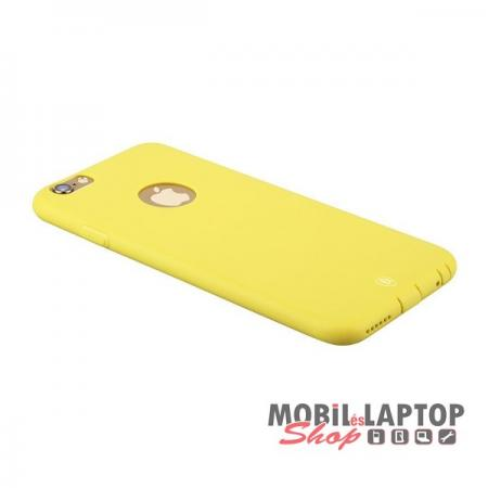 Szilikon tok Apple iPhone 6 / 6S Baseus Misu Case sárga