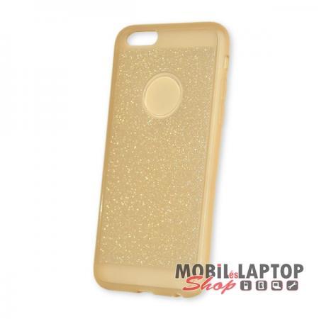 Szilikon tok Apple iPhone 6 / 6S csillámos arany